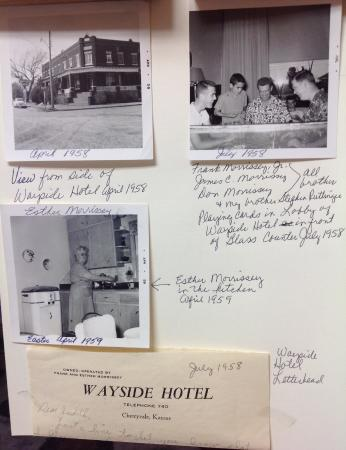 Cherryvale, KS: Wayside Hotel owned by my grandparents Frank & Esther Morrissey