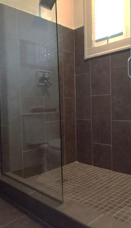 Marigny Manor House: Walk-in shower in the Dauphine room