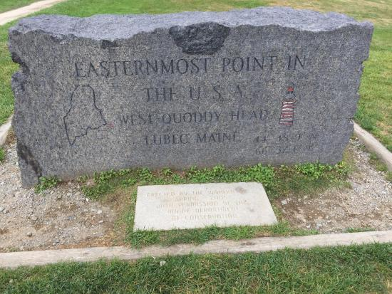 Lubec, ME: Marker denoting the Easternmost point in the US