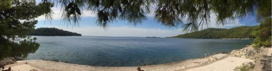 Smokvica, Kroatië: Blick auf das offene Meer (vom neuen Gebäude)