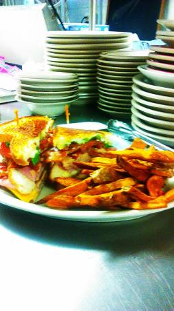 Becky Thatcher's Diner: Becky's Club Sandwich & handcut fries