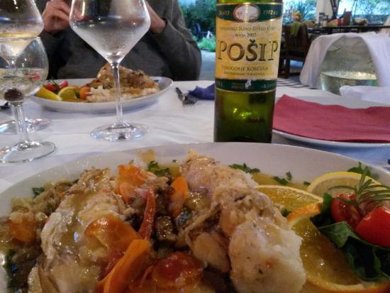 Osor, Kroatien: Le poisson : frogfish - le meilleur poisson de l'Adriatique... hum