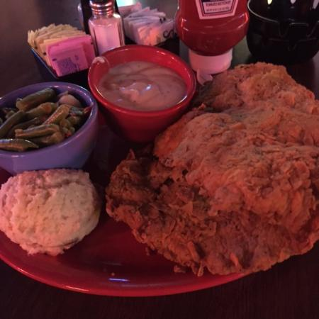 George's Restaurant & Bar: Full Chicken Fried Steak has 2 large cutlets.