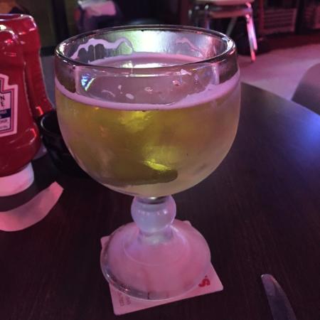 George's Restaurant & Bar: The Big O, a 16 oz goblet of beer.