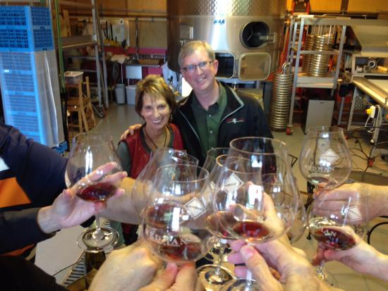 Oregon Wine Tours: Ron and Cathy Redmam at Redman Wines