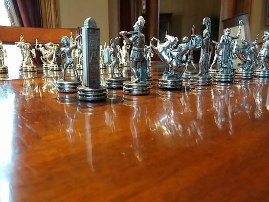 Bay City, MI: Chess set close up