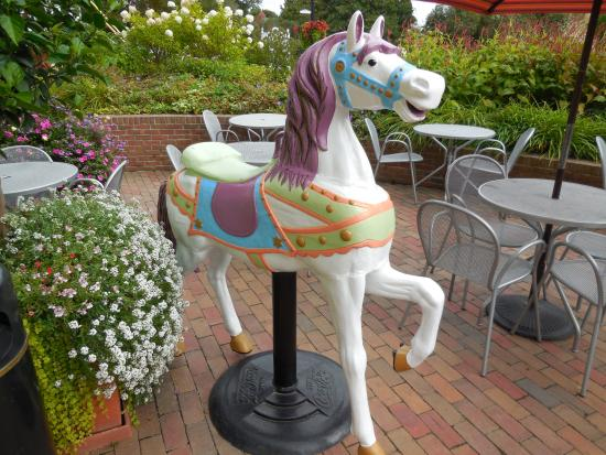 Inn on Mackinac: A merry go-round horse greets you!
