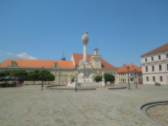 Croacia Central, Croacia: Trinity Column in Old Town Osijek