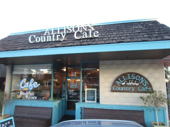 Allison's Country Cafe: exterior view front door