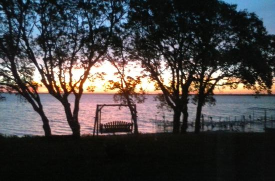 The Lodge on Otter Tail Lake: sunset from cabin 9