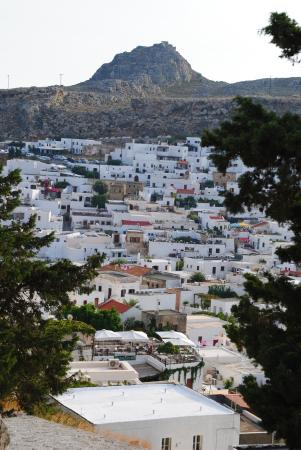 Set fra havet - Picture of Village of Lindos, Lindos ...