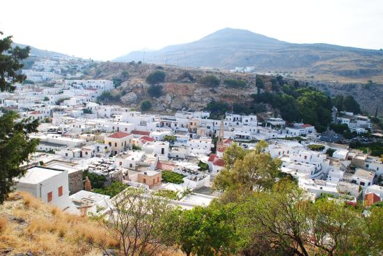 Set fra havet - Picture of Village of Lindos, Lindos ...