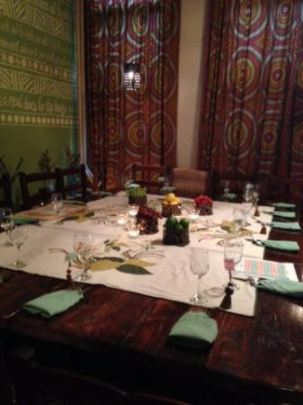 Umana Restaurant And Wine Bar Reserved Party Table Setup