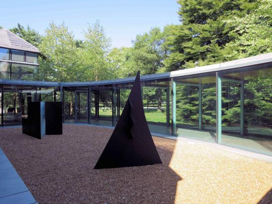 Frances Lehman Loeb Art Center at Vassar College: Gravel Sculpture Garden along entrance walkway