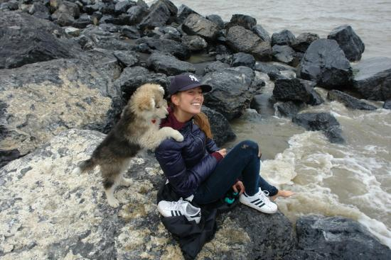 Tuktoyaktuk, Canada : Distracted when dipping my toes in the Arctic Ocean