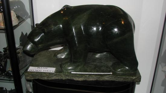Maligne Canyon: Gift shop - guess how much this jade bear sells for?