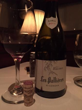 Tournedos Steakhouse: our table - wine was paired perfectly