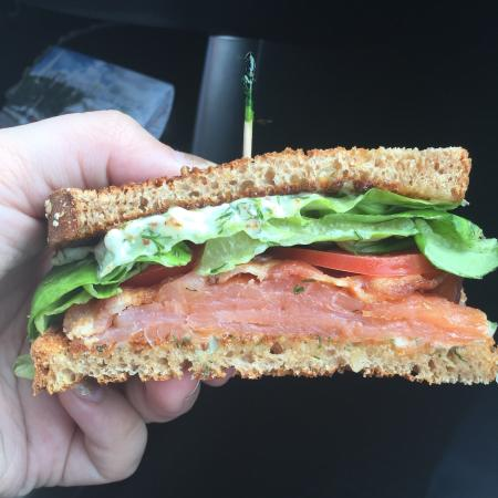Smoked Salmon BLT - it was a special and it was delicious!!! Included ...