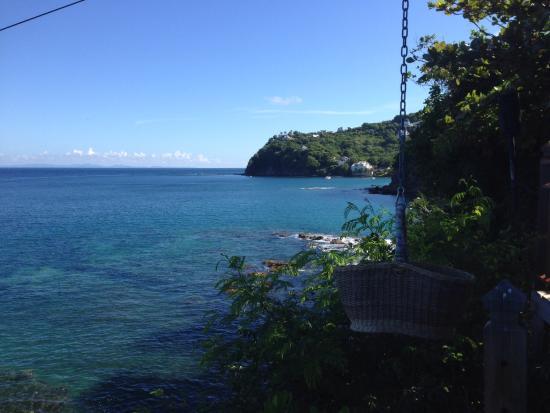 Cap Estate, Sta. Lucía: Cliff restaurant view