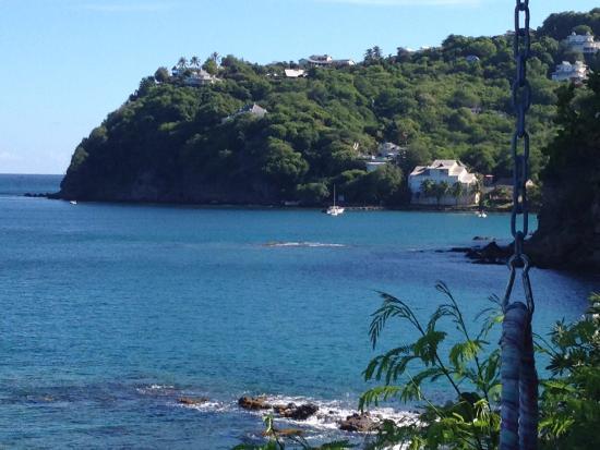 Cap Estate, St. Lucia: Cliff Restaurant view