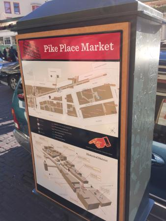 Map of the market  Picture of Pike Place Market Seattle