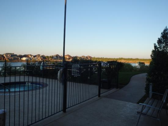 Holiday Inn Express Hotel & Suites Wichita Falls : View of lake from pool area