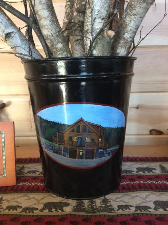 Derby, VT: Custom painted sap bucket