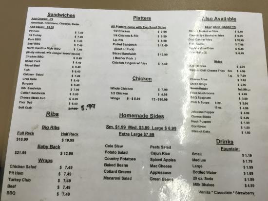 Huntingtown, MD: menu
