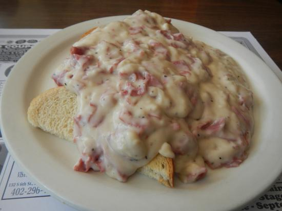 Plattsmouth, NE: Creamed Chipped Beef on Toast