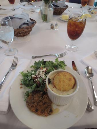 Dunham Farms: Chicken-pot-pie, salad, & sweetpotatos