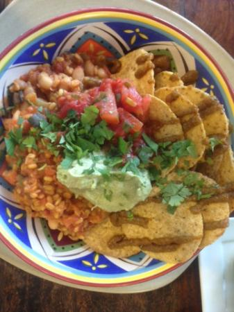 Forest Glen, Australië: Crisp nacho chips, delicious guacamole and zesty salsa made this dish a winner!