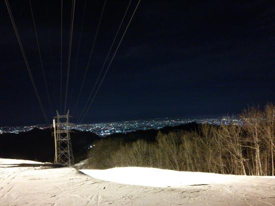 Sapporo Bankei Ski Area: 夜景