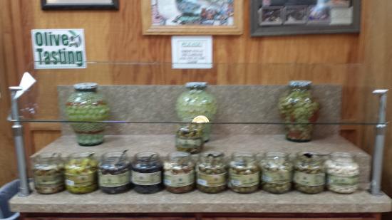 Williams, Californien: Olive Tasting Area