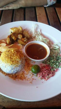 IR-One: Nasi kerabu ayam