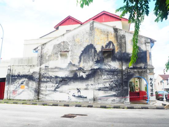Art of OLDTOWN: Tin Mining Town with Chinese-Style Painting