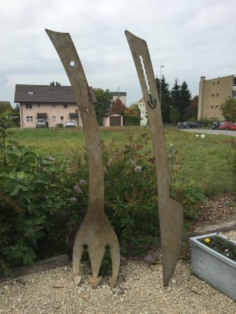 Avenches, Suisse : terrasse