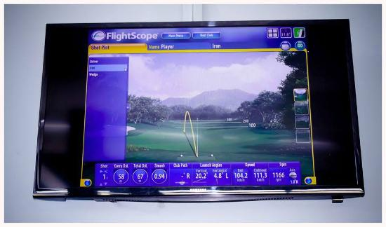 The River Club Mashie Golf Course Driving Range Flightscope Monitor In Vip