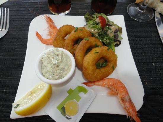 Le 47eme : Entrée avec calamars et crevettes