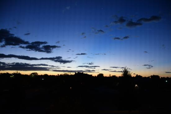 sunrise from our room picture of quality inn suites university rh tripadvisor com