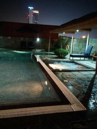 Donatello Hotel: Rooftop Pool at night