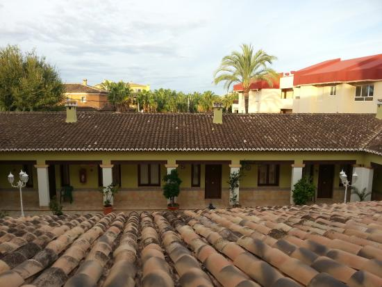 Hotel Solymar: Vue cour