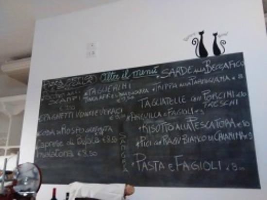 Lavagna Con Menù Picture Of Il Gatto Nero Ristorante Pizzeria