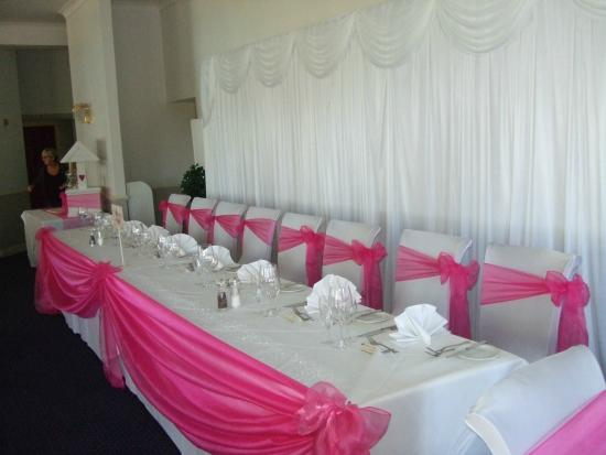 Best Western Normanton Park Hotel Wedding Party Head Table