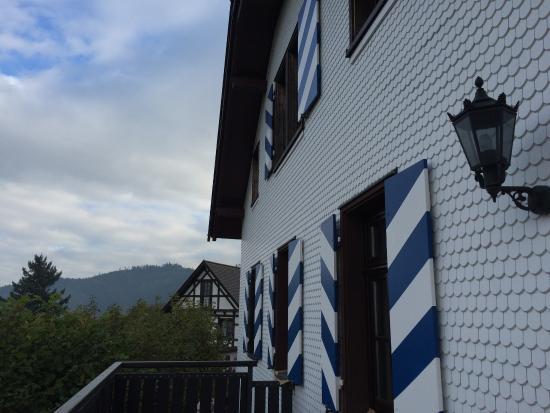 Burg Windeck Hotel und Restaurant: Balcony & Building with one of 2 Suites