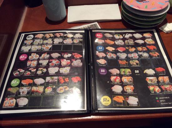 East Japanese Restaurant: メニュー