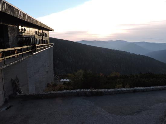 Labska Bouda: Sonnenaufgang Südseite bei -4°C