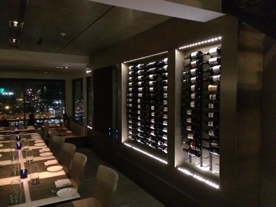Interior with wine display