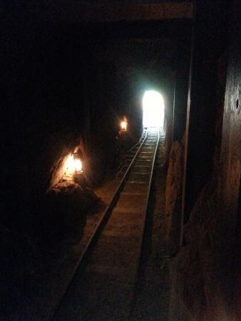 Smith Ranch & Julian Railroad - inside the gold mine