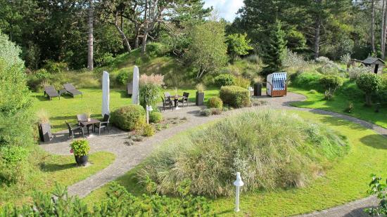 Hotel Landhaus an de Dün: Aussicht auf den wunderschönen Relax-Gartenbereich