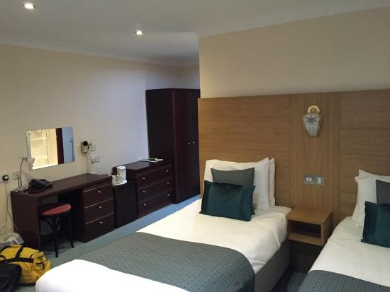 The Old Rectory Hotel: One of the twin beds.